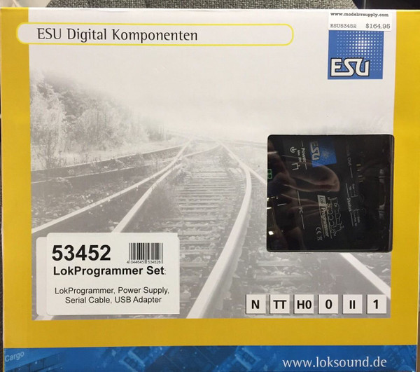 ESU 53452 LokProgrammer for LokSound and Lokpilot decoders - USA Power Supply