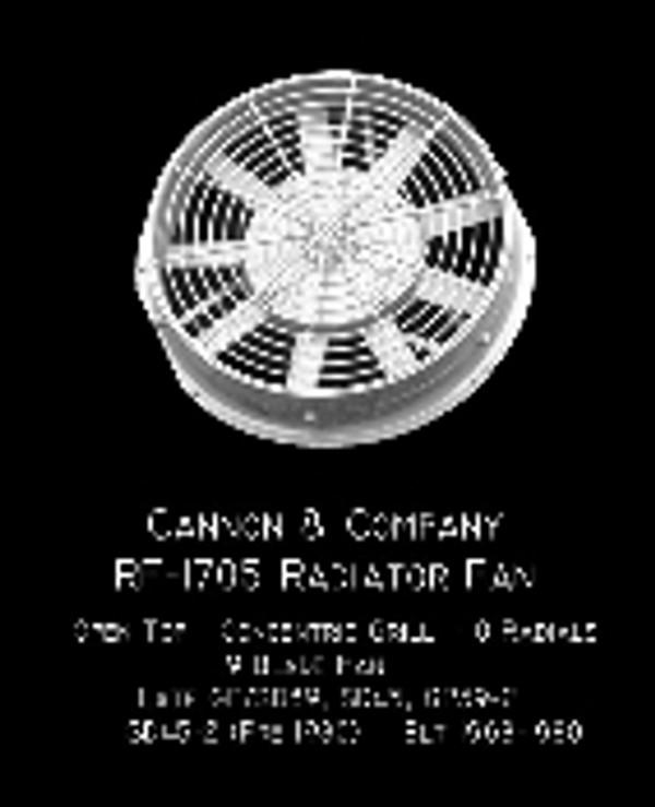 Cannon & Co 1705 Radiator Fan 48 Inch Open Top