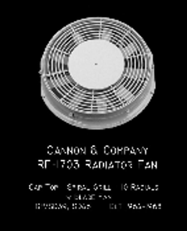 Cannon & Co 1703 Radiator Fan - 48 Inch Cap Top Top