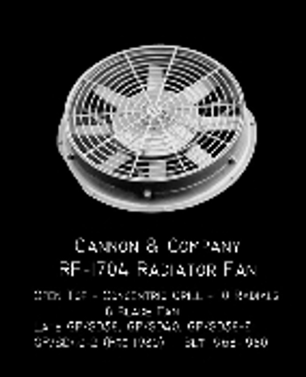 Cannon & Co 1704 Radiator Fan 48 Inch Open Top