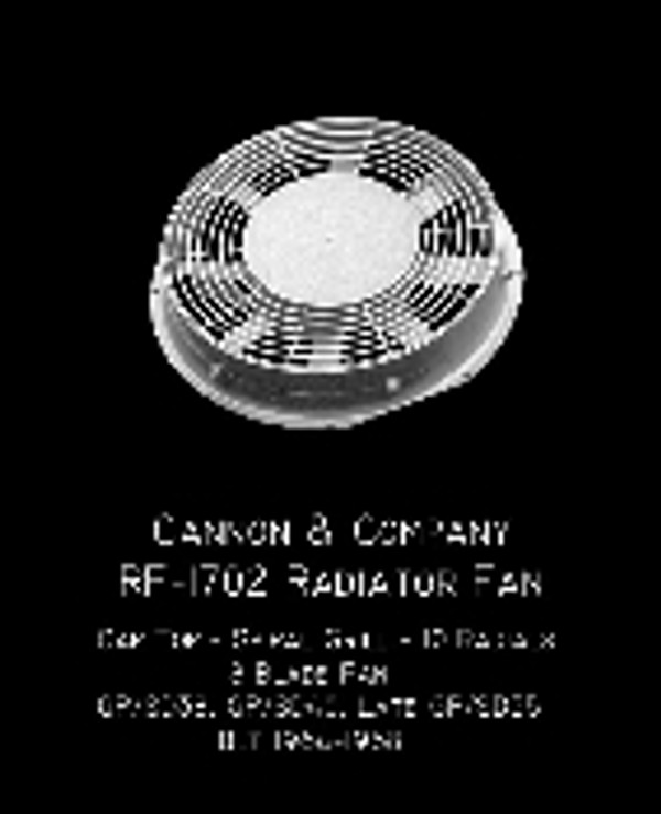 Cannon & Co 1702 Radiator Fan 48 Inch Cap Top