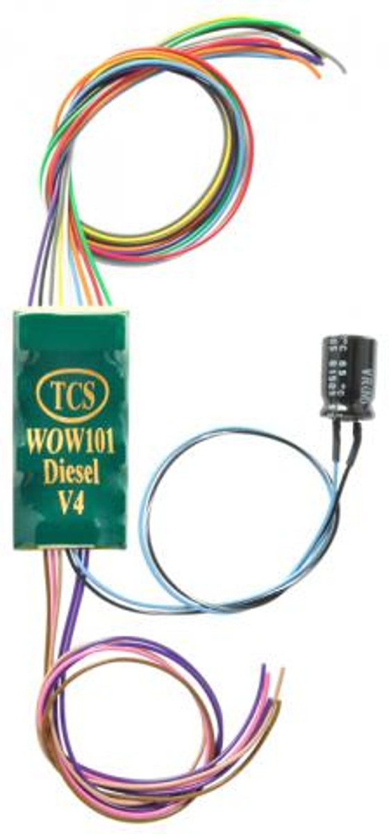 TCS 1530 Train Control Systems WOW101 Diesel Sound Decoder V4 - 9 Pin