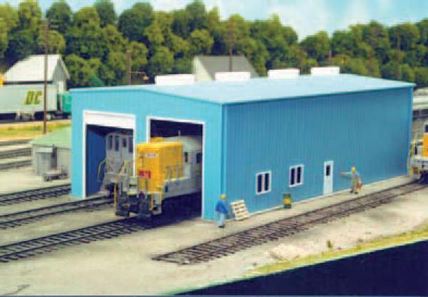 Pikestuff 8 HO Modern 1 or 2 Door Engine House kit