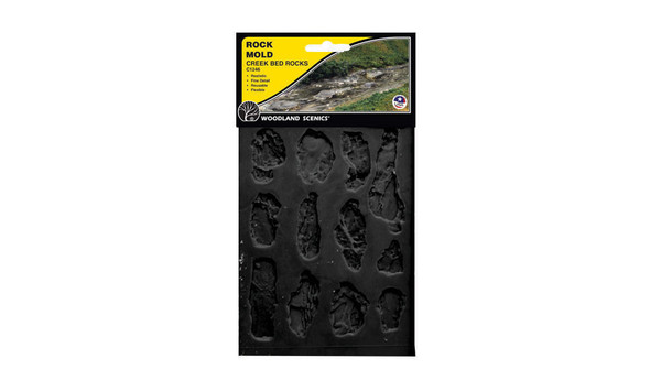 Woodland Scenics C1246 Rock Mold - Creek Bed Rock