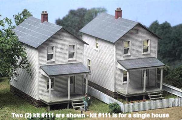 City Classics 111 HO Railroad Street Company House Kit - Single