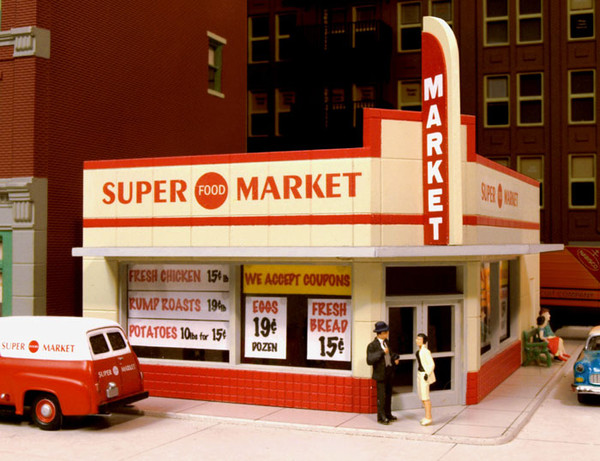 City Classics 114 HO West End Super Market Kit