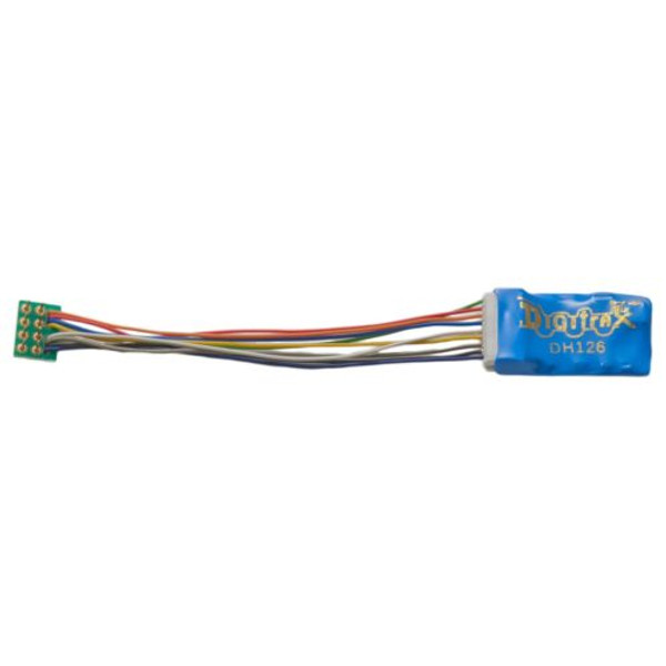"DIGITRAX DH126P - 1.5 Amp 9 Pin to NMRA 8 pin 3"" harness Decoder"