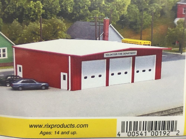 Pikestuff 192 HO Fire Station - RED (kit)