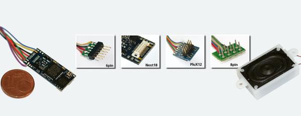 ESU 56899 LokSound V4.0 Micro with NMRA 8 pin Plug & Speaker