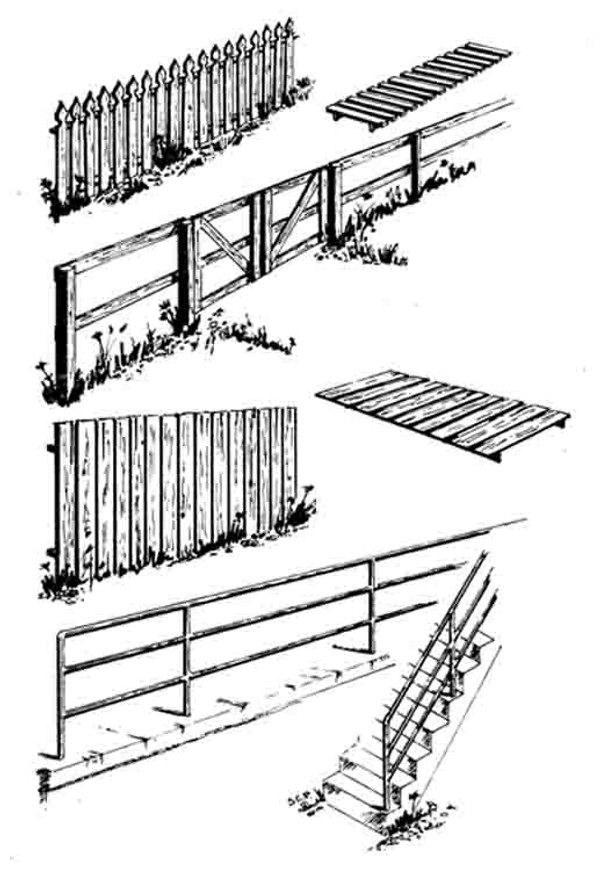 CENTRAL VALLEY 1601 HO Fences & Railings (4pc)