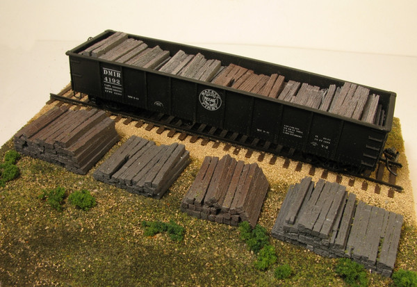 Monroe Models 2108 HO Scale Weathered Railroad Tie Stacks