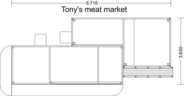 BAR MILLS 112 HO Four Fingered Tony's Meats - Laser-Cut Craftsman Kit