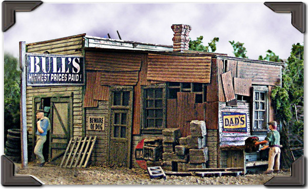 BAR MILLS 452 HO Bull's Savage - Laser-Cut Craftsman Kit