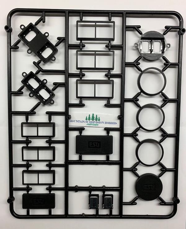 ESU LokSound 50340 Modular twin speaker baffle set & 2 Sugar Cube speakers