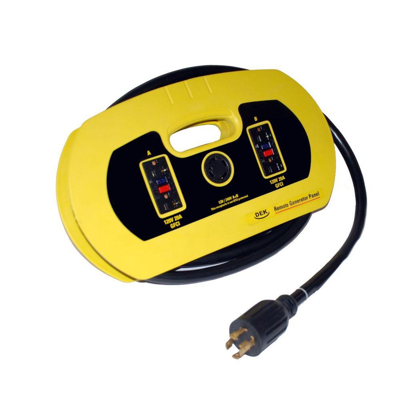 240v Extension Cord >> Dek Universal Generator 15 Cord W 120 Volt 240 Volt 30 Amp Plugs