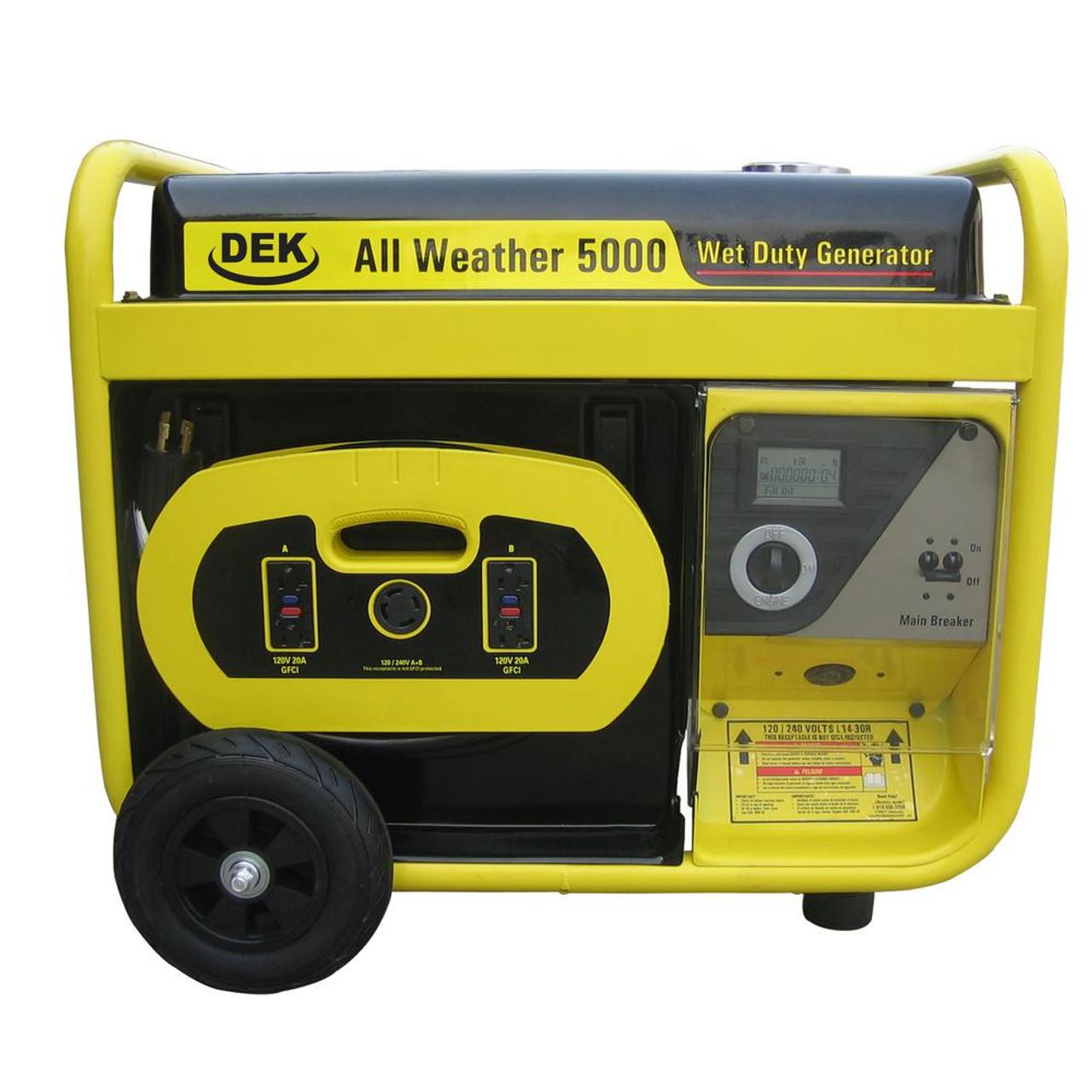 Best Portable Generators 6600 Watts Electric Start Generator Beast Watt Surge All Weather Removable Control Panel