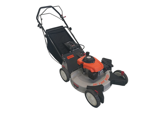 "TURF BEAST 26"" 208cc  with spin-on oil filter, 3-in-1 features (bag / discharge / mulch), self propelled rear wheel drive w/ blade brake clutch (not sold in California)"