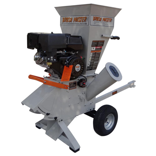 Reconditioned CH9 - Brush Master 5in diameter feed with Electric Start Commercial Duty Chromium Gas Wood Chipper (not sold in California)