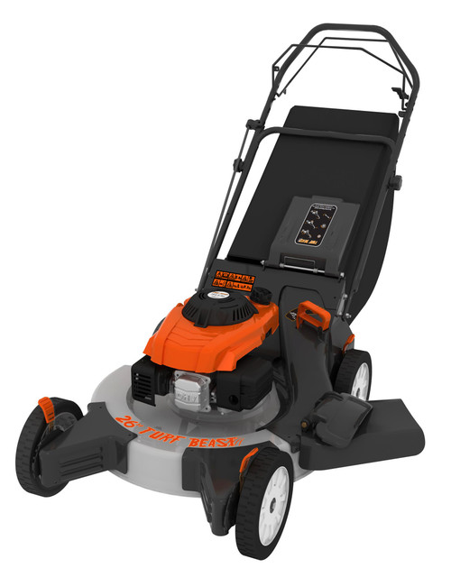 26 in. 208cc Gas Walk Behind 3-in-1 Wide Area Self Propelled Lawn Mower, Rear Wheel Drive with Blade Brake Clutch