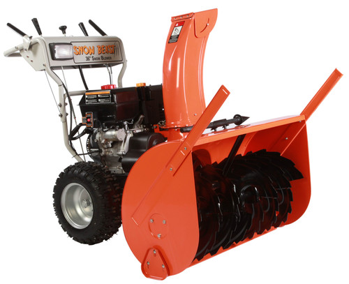 36 in. Commercial 420cc Electric Start Two-Stage Gas Snow Blower with Headlights, Bonus Drift Cutters and Clean-Out Tool