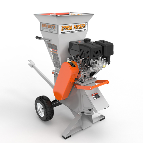 4 in. diameter feed 15 HP 420cc Commercial Duty Chipper Shredder with Trailer Hitch, Gloves, Safety Goggles included