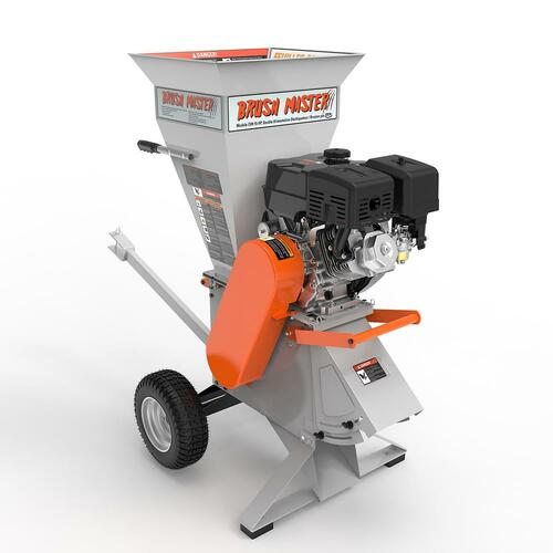 5 x 3.5 in. 15HP 420cc Self Feed Gas Chipper Shredder with 120V Electric Start, Unique 3-in-1 Discharge, Gloves, Goggles