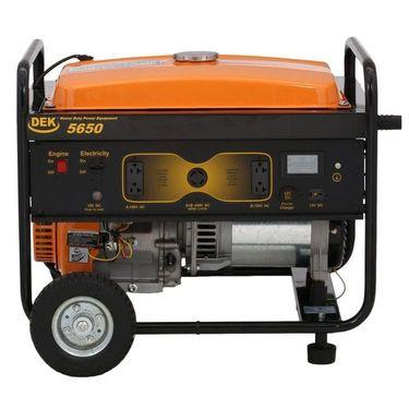 DEK 5650 Running Watt 7345 Surge Peak Watt Commercial Grade Portable Generator New Not Sold In California