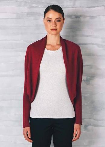 Clara Shrug - Cranberry