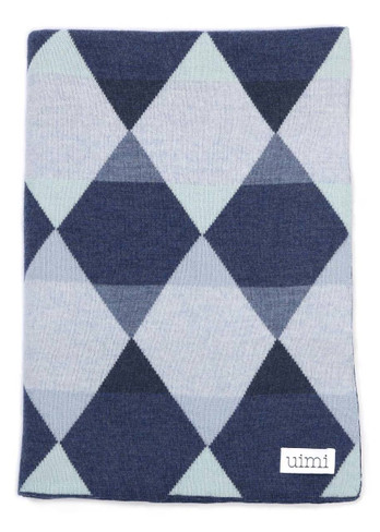 Isaac Blanket - Indigo (folded)