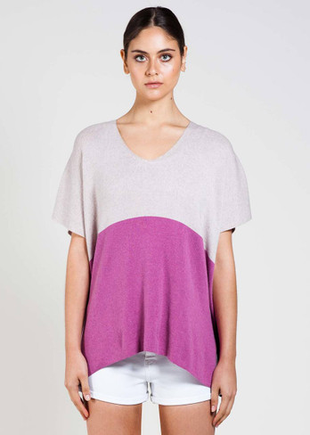 Bridget Tee in Grape