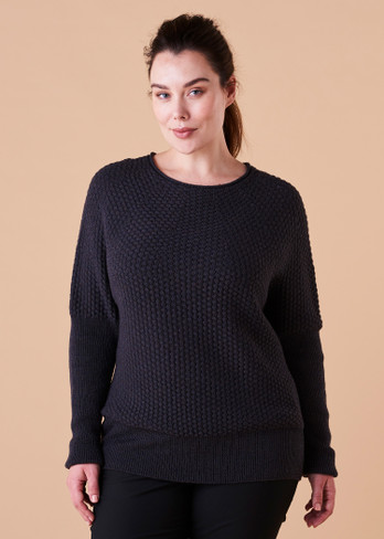 Bellamy Jumper - Blackcurrant (front)