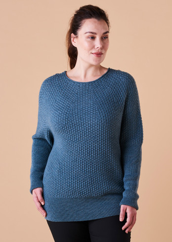 Bellamy Jumper - Duck Egg (front)