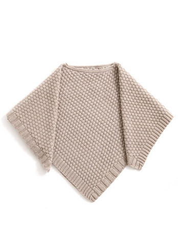 Bellamy Kids Poncho - Latte