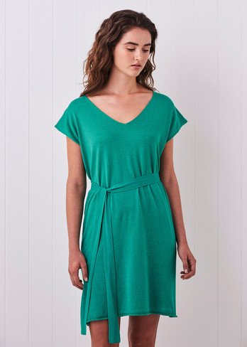 Tully Dress - Peacock (with belt)