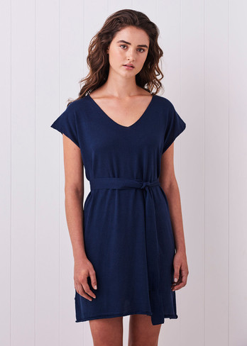 Tully Dress - Royal (with belt)