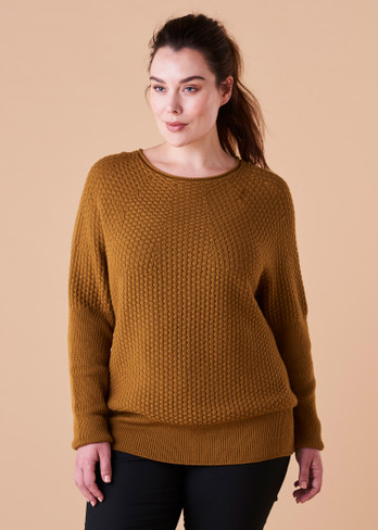 Bellamy Jumper - Brass (front)