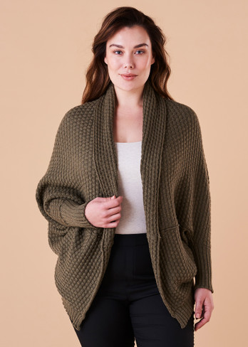 Bellamy Shrug - Olive (front)