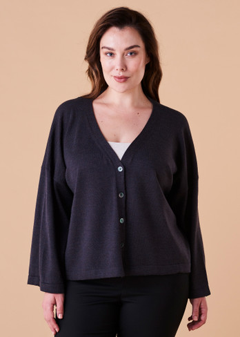 Esme Cardigan - Blackcurrant (front)