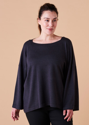 Esme Top - Blackcurrant (front)