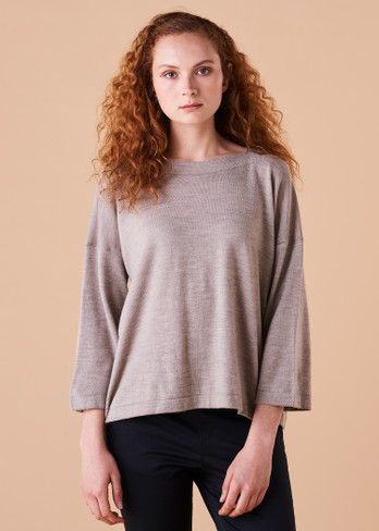 Esme Top - Wheat (front)