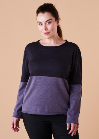 Harlow Top - Mulberry (front)