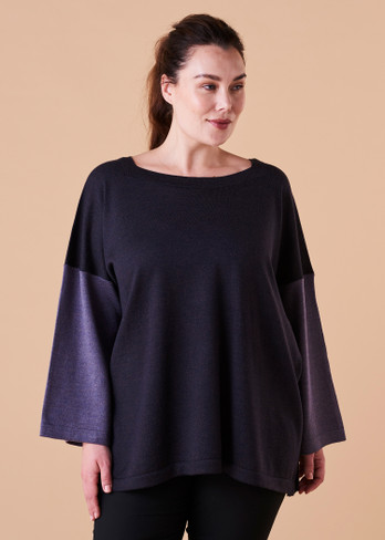 Juliet Top - Mulberry (front)