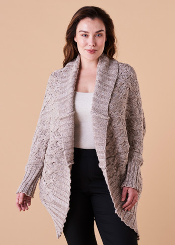 Mabel Cardigan - Wheat (front)