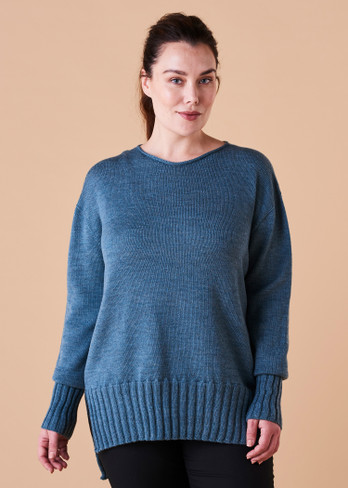 Quinn Jumper - Duck Egg (front)