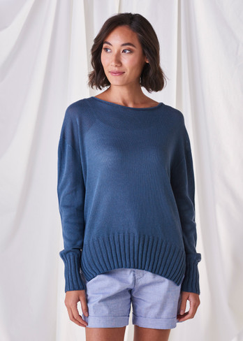 Quinn Jumper - Steel Blue