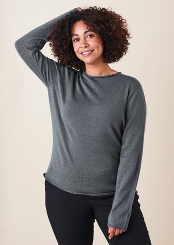 Phoebe Top - Gunmetal