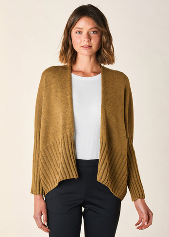 Quinn Short Cardigan - Nutmeg