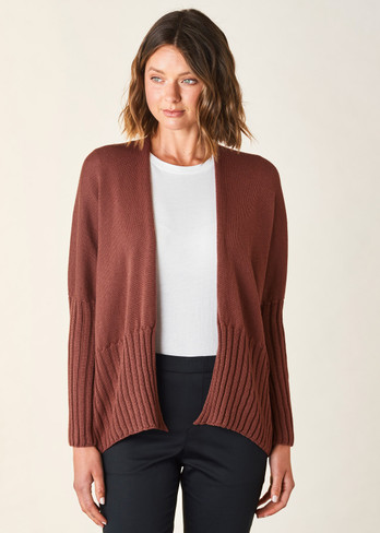 Quinn Short Cardigan - Terracotta