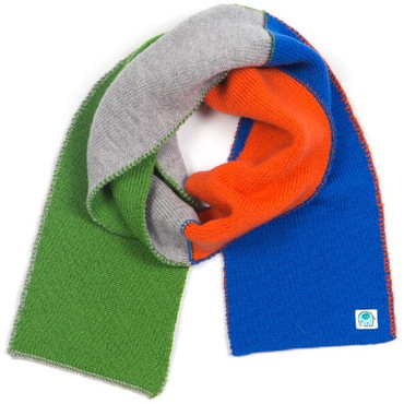 Polly kids scarf - Sapphire