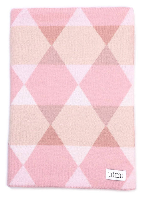 Isaac Blanket - Rose (folded)